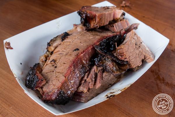 Brisket at Butcher Bar BBQ at LIC Flea and Food Market