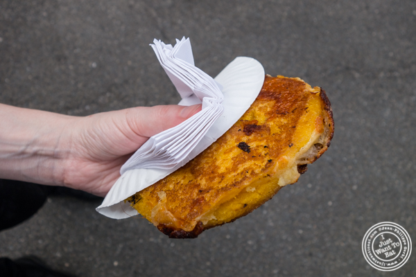 Mozzarepas from Chuzos at LIC Flea and Food Market