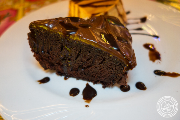 Chocolate cake at El Maguey Y La Tuna, Lower East Side, NYC, NY