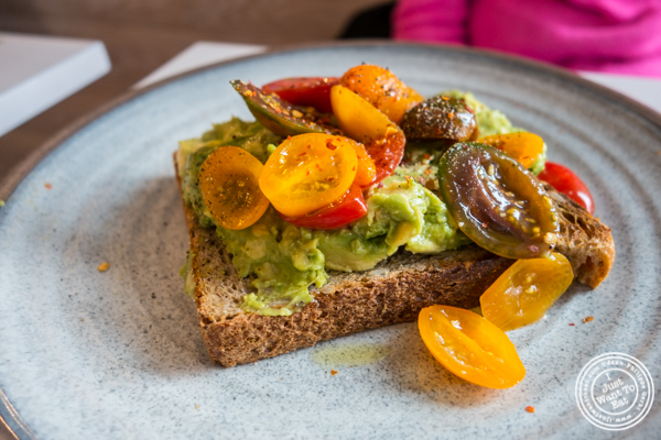 Avocado smash at Bluestone Lane Coffee in Hoboken, NJ