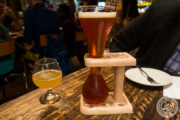 Kwak Belgian beer at Turntable LP Bar and Karaoke in K-Town, NYC