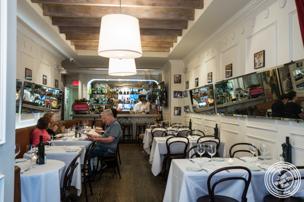 Dining room, first floor of Mamo NYC in Soho