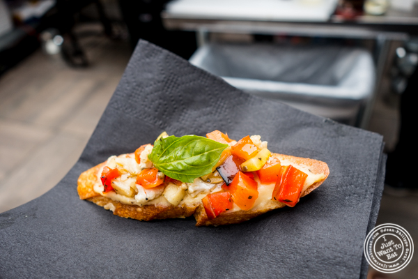 Grilled vegetable antipasto bruschetta at The Grilling University with McCormick