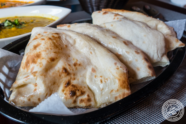 Plain naan bread at Mumbai Masala Indian Grill in Harlem