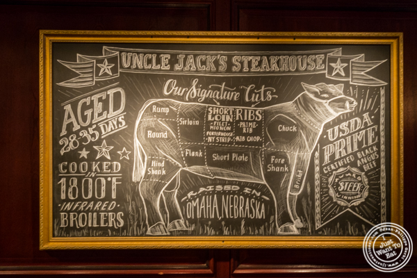 Beef parts at Uncle Jack's Steakhouse in Midtown West , NYC