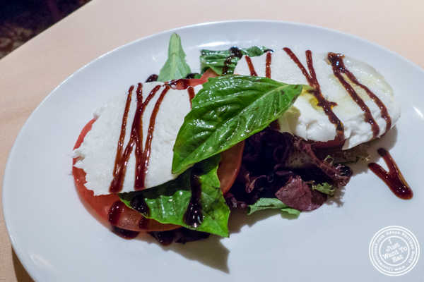 Buffalo mozzarella salad at Uncle Jack's Steakhouse in Midtown West , NYC