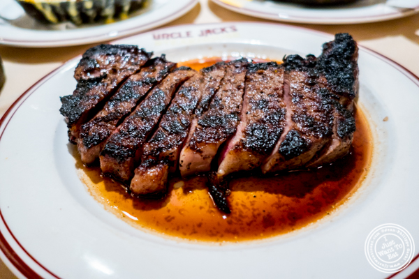 "NY ""Trump"" strip steak at Uncle Jack's Steakhouse in Midtown West , NYC"