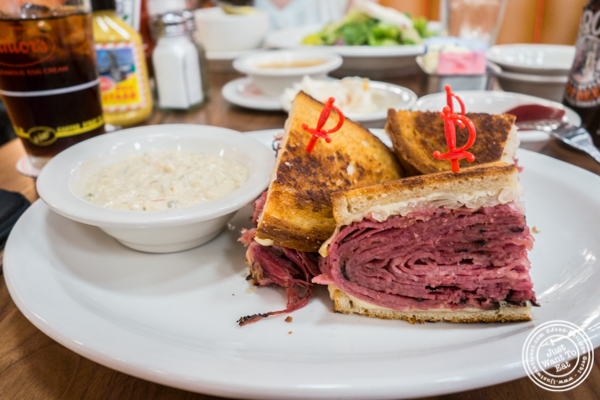 Pastrami reuben at Junior's on 49th St. and Broadway, NYC