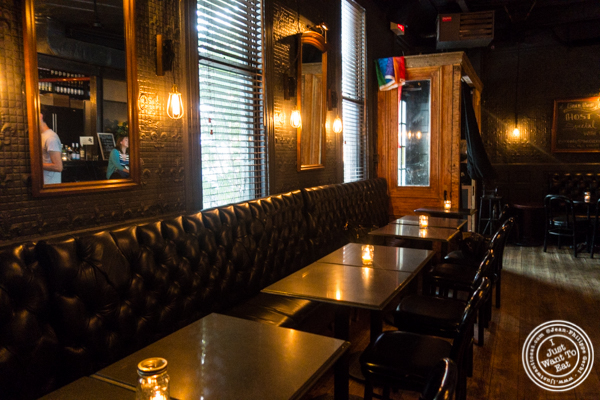 Bar area at The Bedford in Williamsburg, Brooklyn, NY