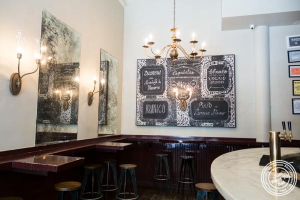 Bar area at El Quinto Pino in Chelsea, NYC
