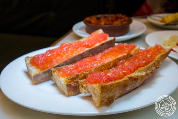 Pan amb tomaca at El Quinto Pino in Chelsea, NYC