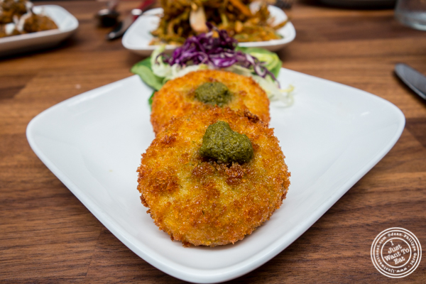 Cauliflower tikki at Imli Urban Indian Food on the Upper East Side, NYC