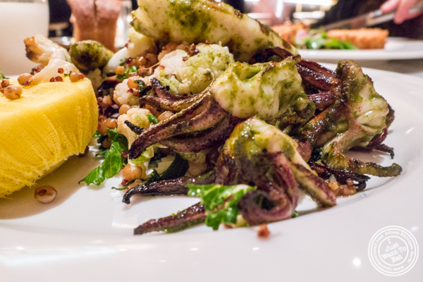 Simply grilled calamari at Blue Fin at The W Hotel in Times Square