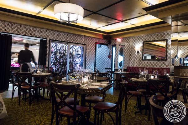 Dining room at Delmonico's Kitchen in Gramercy, NYC, NY