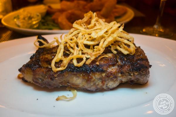 Demonico steak at Delmonico's Kitchen in Gramercy, NYC, NY