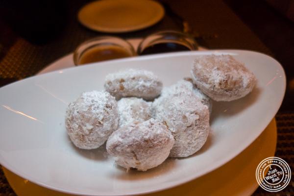 Brioche beignets at Delmonico's Kitchen in Gramercy, NYC, NY