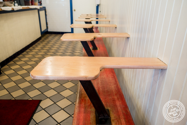 School desks at Federal Donuts in Philadelphia, PA