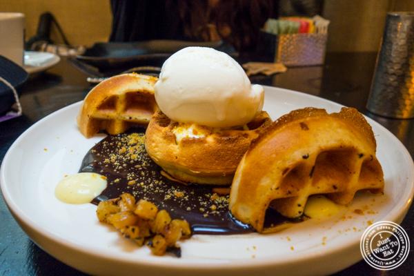 Churro waffle at Aqimero in Philadelphia, PA