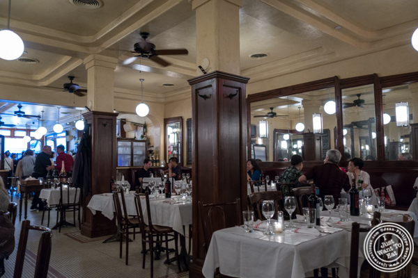 Dining room at La Gamelle, East Village, NYC