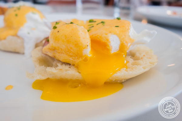 Eggs benedict at Porter Collins in Hoboken, NJ