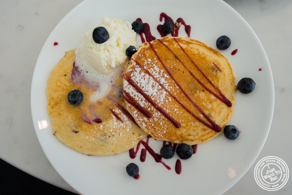 Blueberry pancakes at Porter Collins in Hoboken, NJ