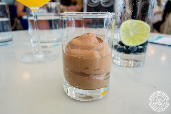 Chocolate mousse at Porter Collins in Hoboken, NJ