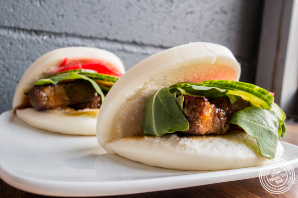 Pork buns at Momo Sushi Shack in Brooklyn, NY