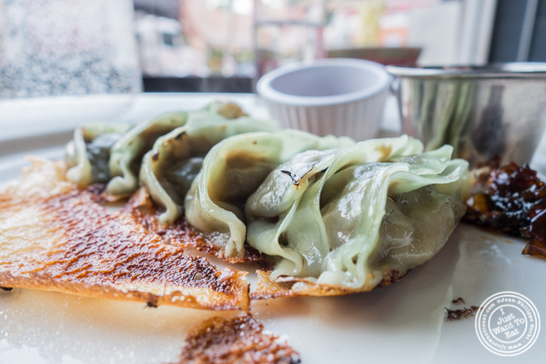 Vegan gyoza at Momo Sushi Shack in Brooklyn, NY