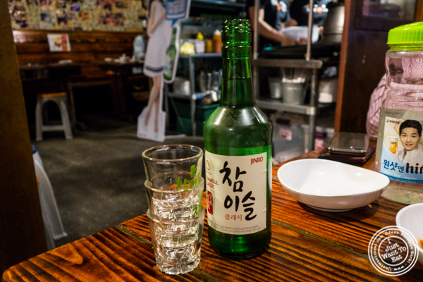 Jinro Chamisul Classic soju at Sik Gaek in Woodside, Queens