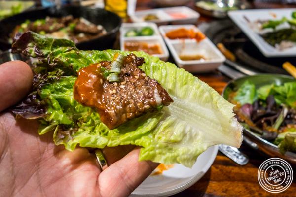 Marinated beef at Sik Gaek in Woodside, Queens