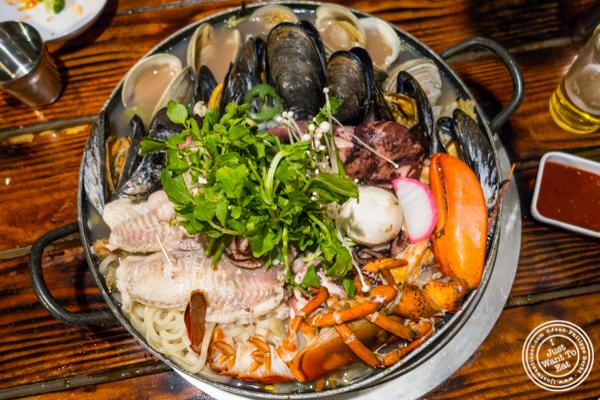 Seafood hotpot at Sik Gaek in Woodside, Queens
