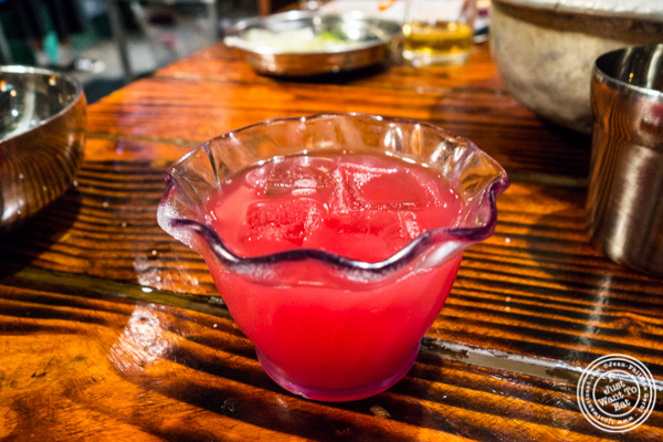 Watermelon juice at Sik Gaek in Woodside, Queens