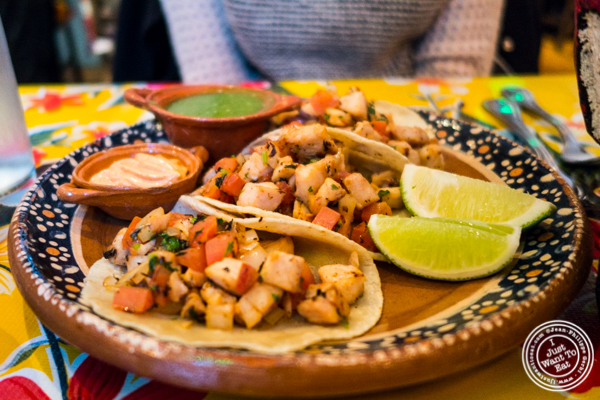 Fish tacos at Charrito's Hoboken, NJ