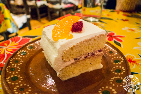Tres leches cake at Charrito's Hoboken, NJ