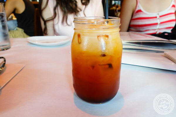 Thai ice tea at Yum Yum Too in Hell's Kitchen