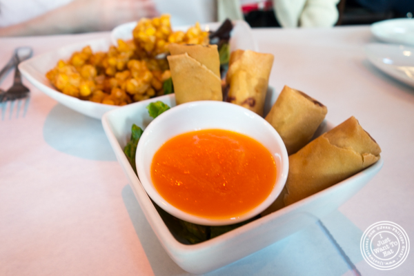 Vegetable spring rolls at Yum Yum Too in Hell's Kitchen