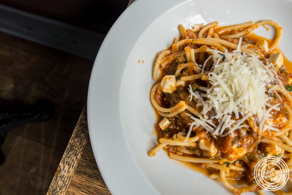 Eggplant bolognese at Anthony David's in Hoboken