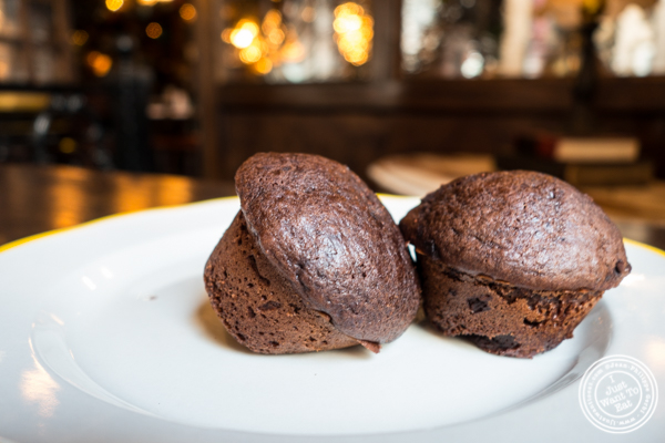Chocolate muffins at White Oak Tavern in Greenwich Village