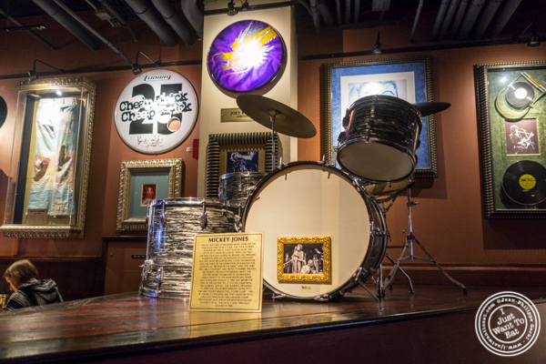 Mickey Jones'drums at Hard Rock Cafe in Times Square