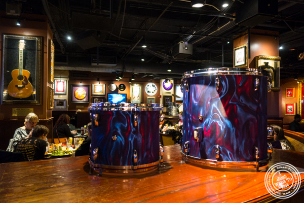 Chad Smith's drums - Red Hot Chili Peppers at Hard Rock Cafe in Times Square