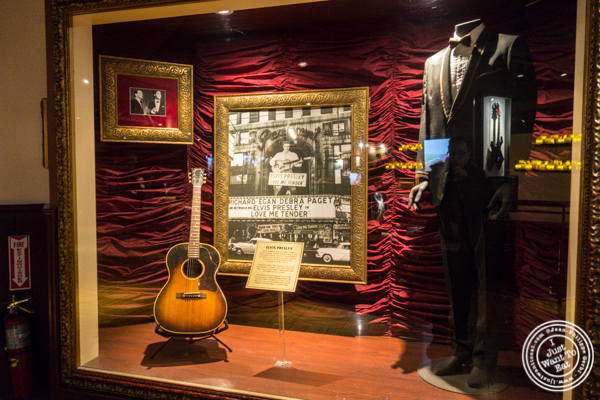 Elvis Presley's memorabilia at Hard Rock Cafe in Times Square