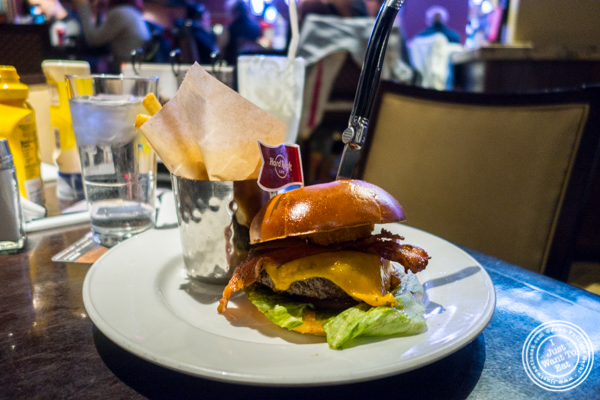 Original Legendary Burger at Hard Rock Cafe in Times Square