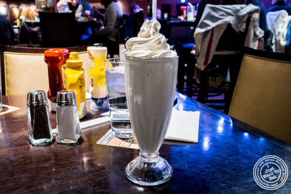 Milkshake at Hard Rock Cafe in Times Square