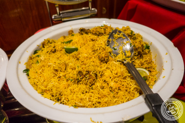Chicken biryani at Vaibhav in Jersey City