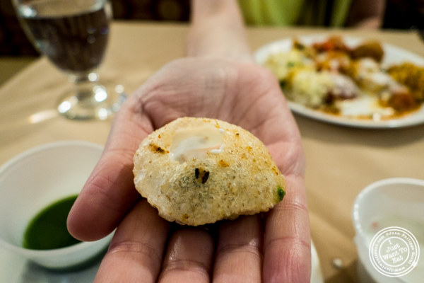Dahi puri at Vaibhav in Jersey City