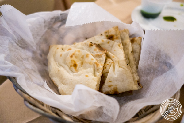 Naan bread at Vaibhav in Jersey City
