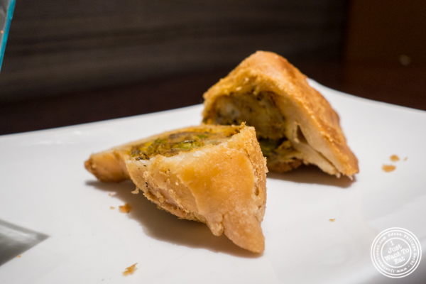 Samosa at Benares in TriBeCa