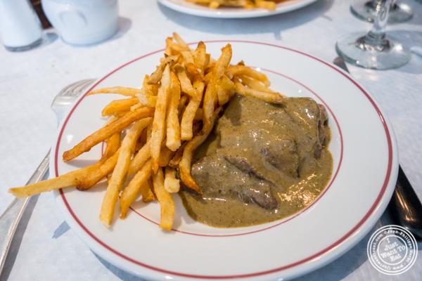Steak frites at Le Relais de Venise L' Entrecote in Soho
