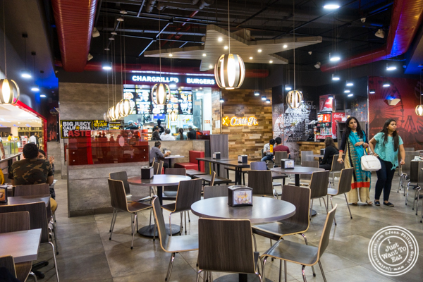 Dining room at Carl's Jr in Noida, India