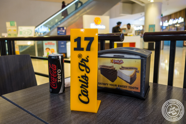 Number at Carl's Jr in Noida, India